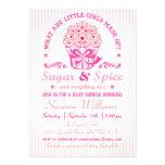 Convite do chá de fraldas do cupcake do açúcar e d