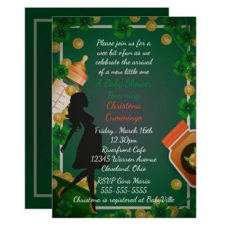Convite do chá de fraldas do dia de St Patrick