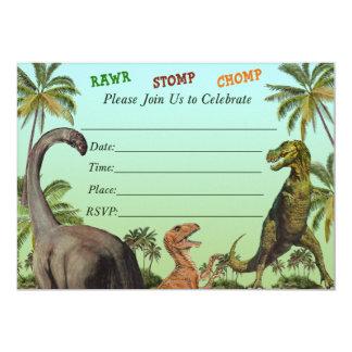 Convite do chá de fraldas do dinossauro