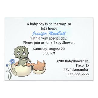 Convite do chá de fraldas do dinossauro do bebê