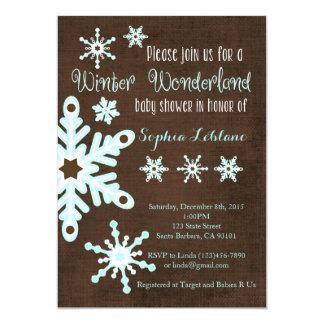 Convite do chá de fraldas do floco de neve em
