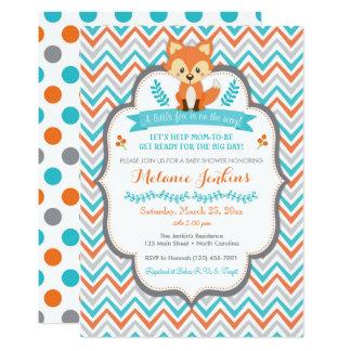 Convite do chá de fraldas do Fox da floresta