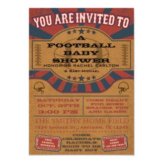 Convite do chá de fraldas do futebol do vintage