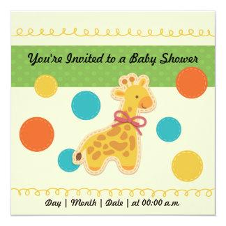 Convite do chá de fraldas do girafa