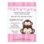 convite do chá de fraldas do macaco do pop do rosa