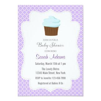 Convite do chá de fraldas do partido do cupcake