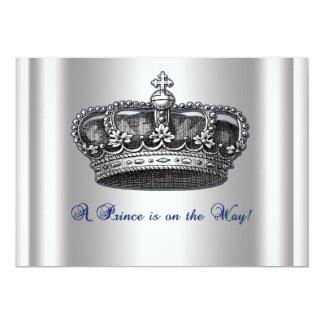 Convite do chá de fraldas do príncipe Coroa