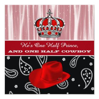 Convite do chá de fraldas do príncipe e do