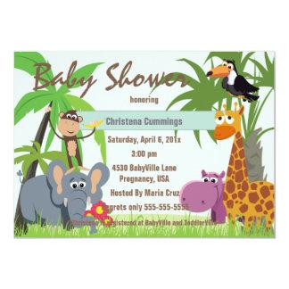 Convite do chá de fraldas do safari de selva