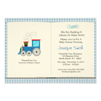 Convite do chá de fraldas do tema do livro