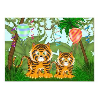 Convite do chá de fraldas do tigre de Bengal da