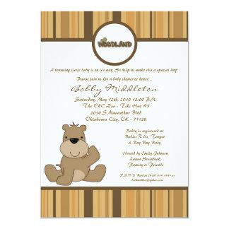 convite do chá de fraldas do urso da floresta do