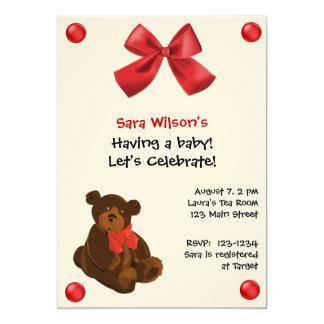 Convite do chá de fraldas do urso de ursinho