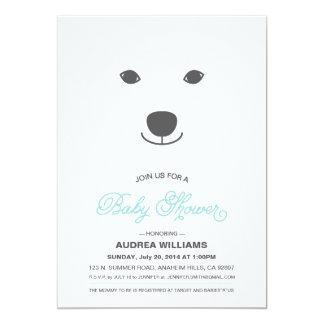 Convite do chá de fraldas do urso polar convite 12.7 x 17.78cm