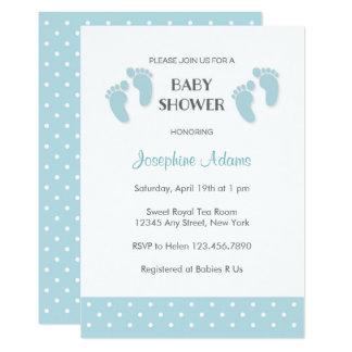 Convite do chá de fraldas dos azuis bebés