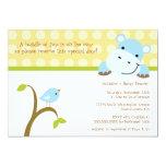 Convite do chá de fraldas dos polkadots do pássaro convite 12.7 x 17.78cm