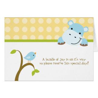 Convite do chá de fraldas dos polkadots do pássaro