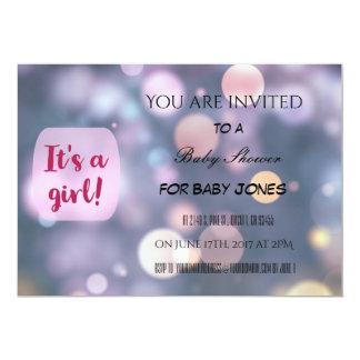 Convite do chá de fraldas para uma menina