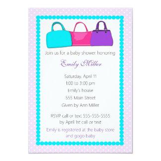 Convite do chá do bebé da bolsa