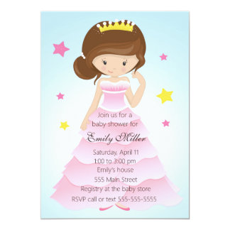 Convite do chá do bebé da princesa Pingamento
