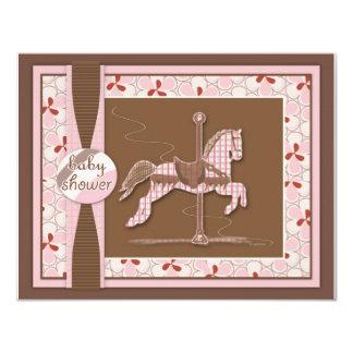 Convite do chá do bebé do cavalo do carrossel