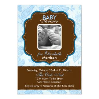 Convite do chá do bebé do papel de parede do