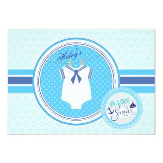 Convite do chá do bebé do terno de marinheiro