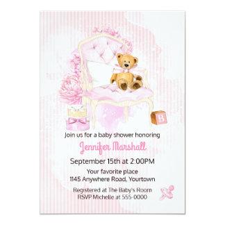 Convite do chá do bebé do urso de ursinho
