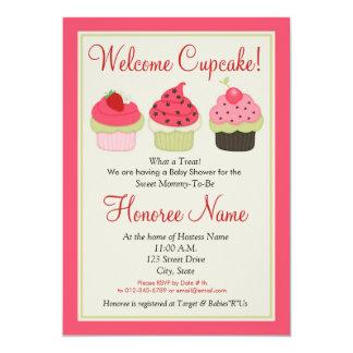 Convite do chá do cupcake