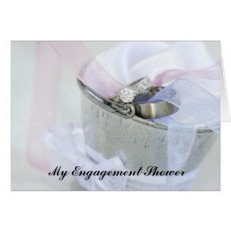 Convite do chá do noivado cartão comemorativo