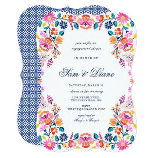 Convite do chá do noivado da festa