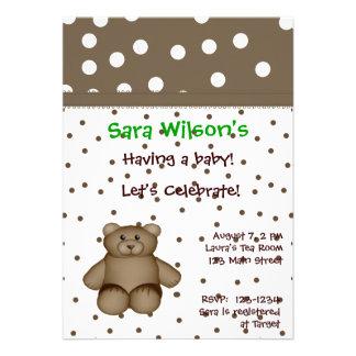Convite do chá do urso de ursinho