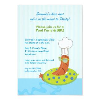 Convite do CHURRASCO da festa na piscina