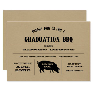 Convite do CHURRASCO da graduação do vintage