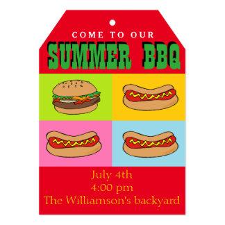 Convite do CHURRASCO do Hotdog do Hamburger