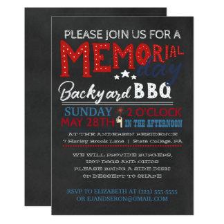 Convite do CHURRASCO do Memorial Day