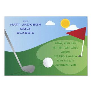 Convite do clássico do golfe