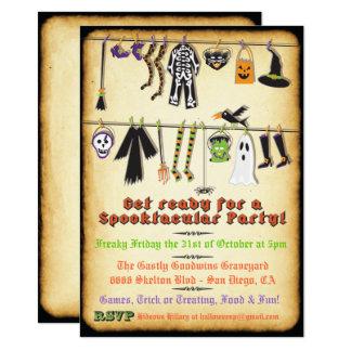 Convite do Clothesline do partido do traje do Dia