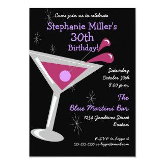 Convite do cocktail de Martini do aniversário Convite 12.7 X 17.78cm