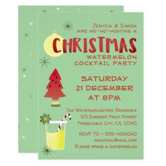 Convite do cocktail do Natal da melancia