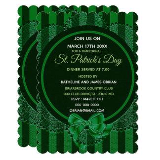 Convite do comensal do dia de St Patrick irlandês