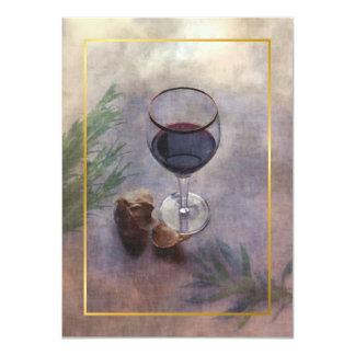 convite do comensal do vinho e do alho
