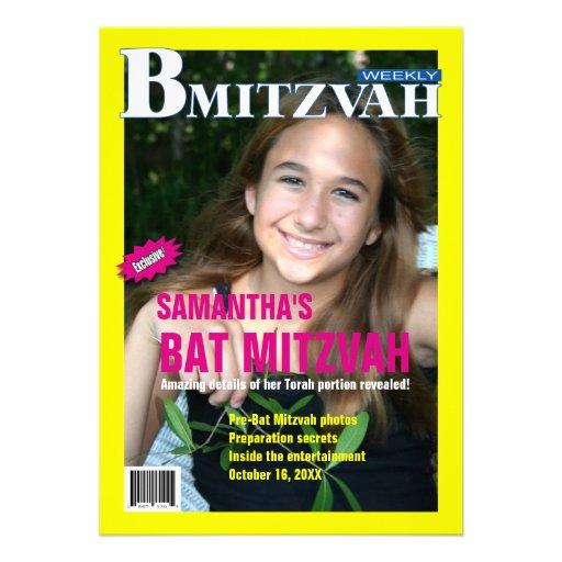 Convite do compartimento de B Mitzvah
