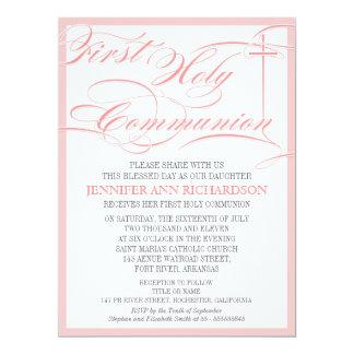 Convite do comunhão da menina primeiro -