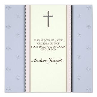 Convite do comunhão santamente da cruz de prata
