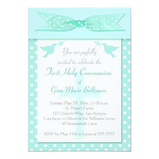 Convite do comunhão santamente das bolinhas do