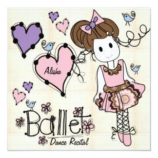 Convite do considerando da dança do balé