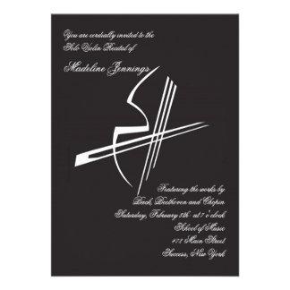 Convite do considerando das impressões do violino