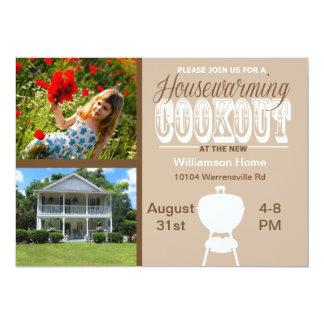 Convite do Cookout do Housewarming de Brown
