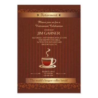 Convite do copo de café da aposentadoria